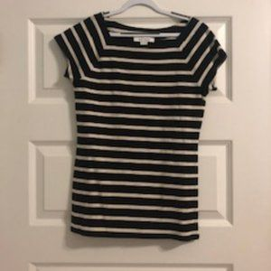 Striped Black and White Blouse